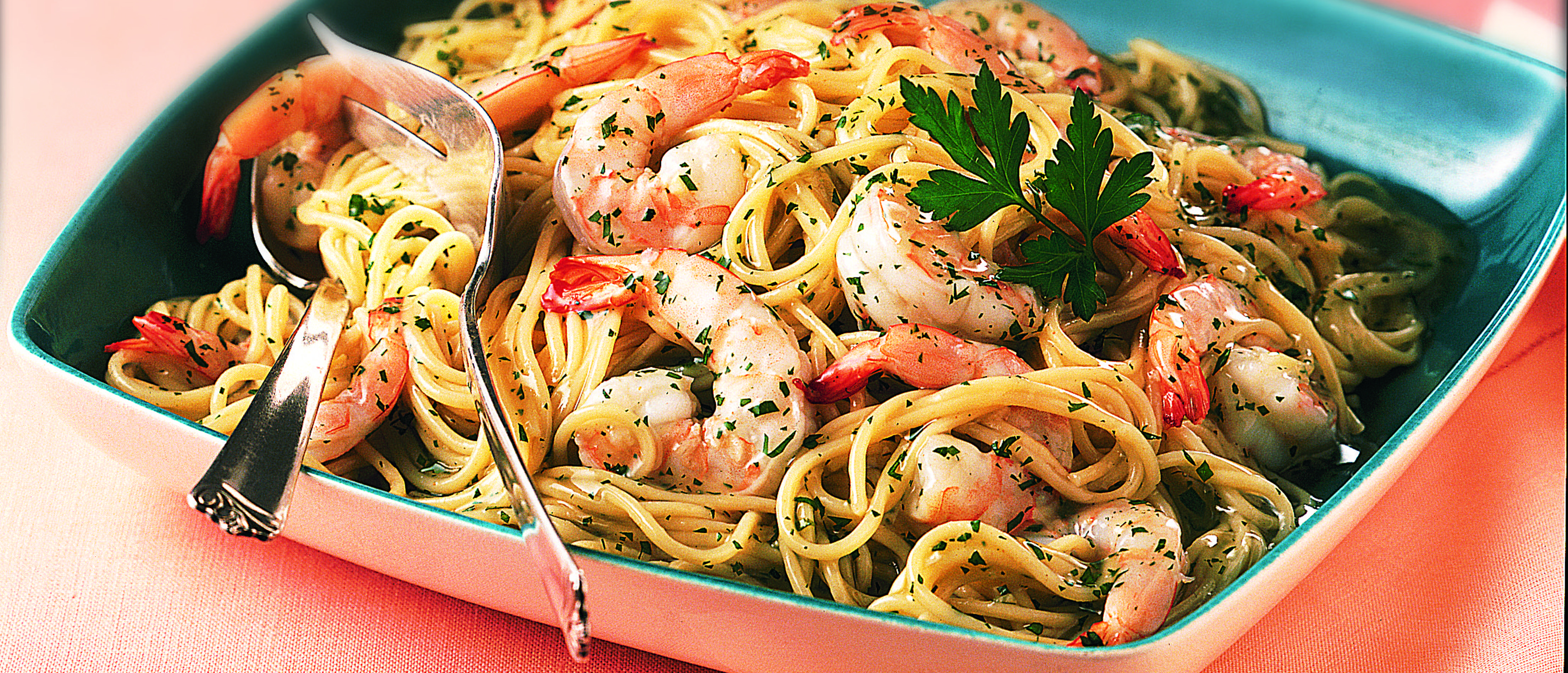 Garlic Shrimp & Pasta