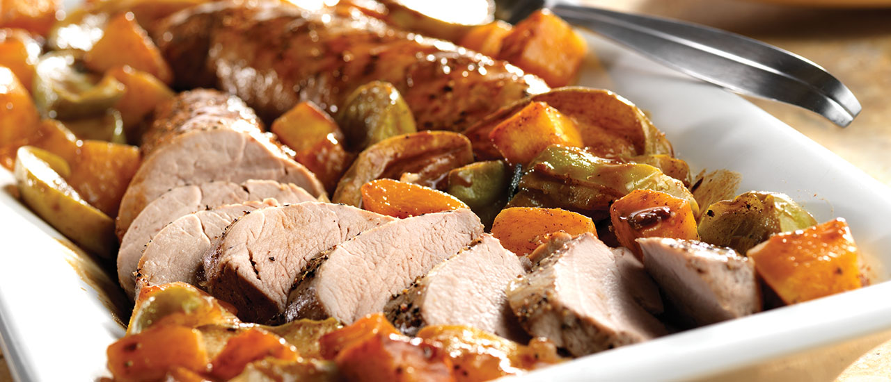Roast Pork With Green Apples Golden Squash