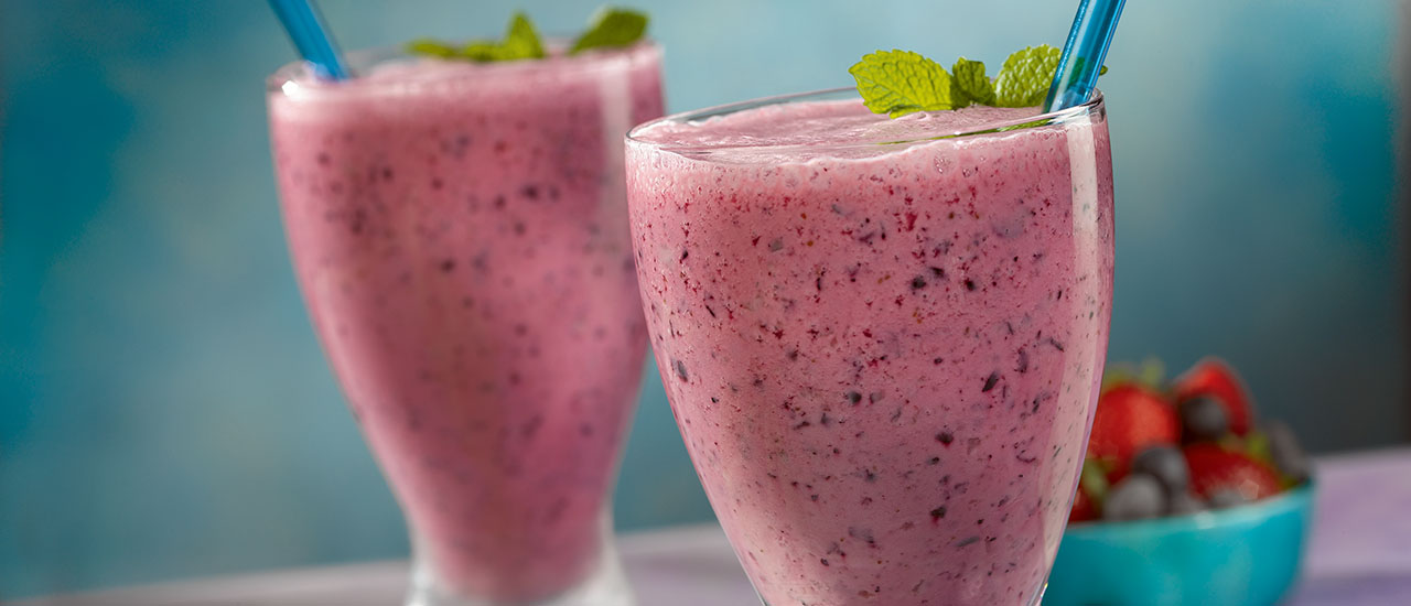 Pomegranate Blueberry Smoothies