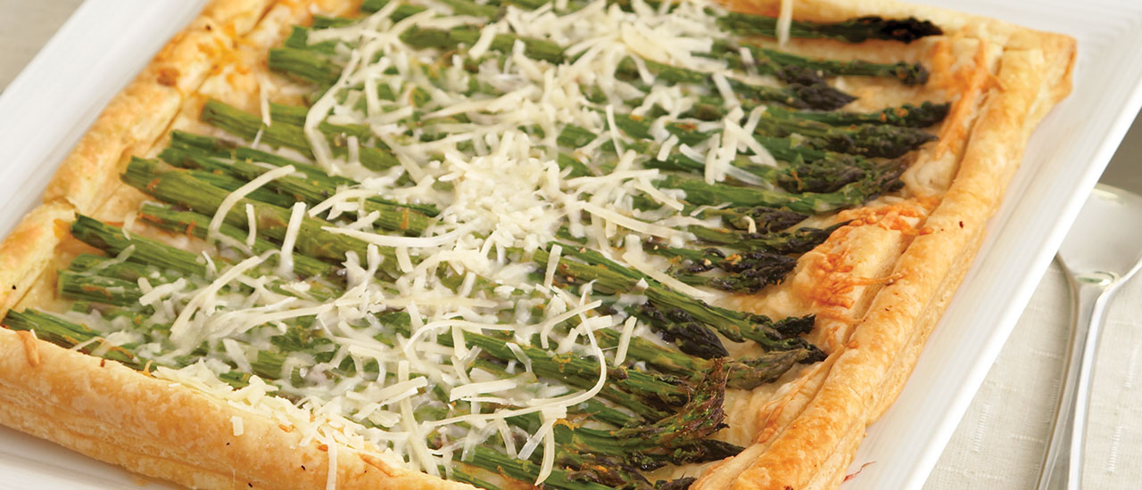 Meyer Lemon-Asparagus Galette