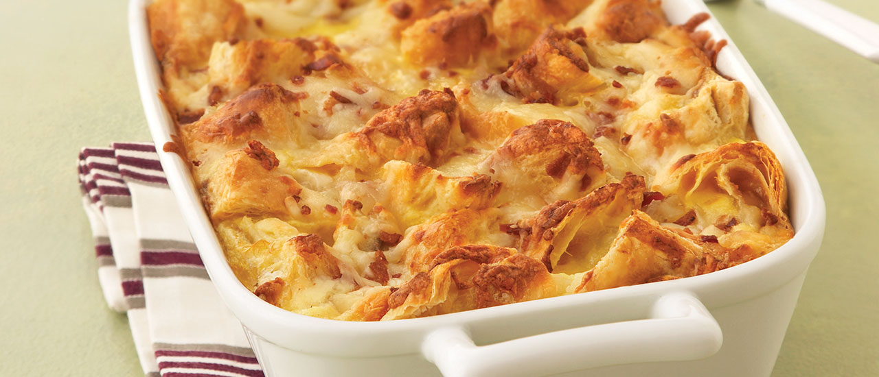 Apple Cheddar Breakfast Strata