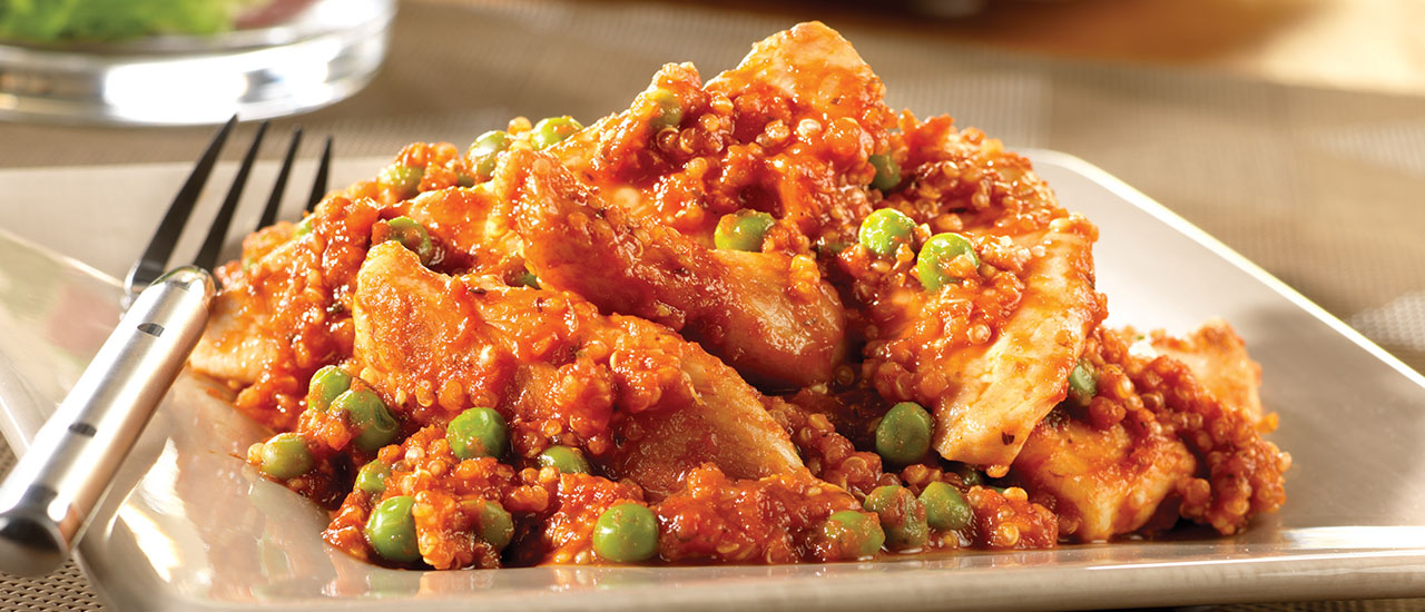 Chicken with Peas & Quinoa