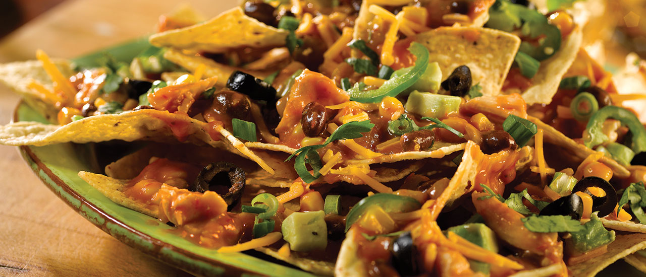 Quick Chicken Enchilada Nachos