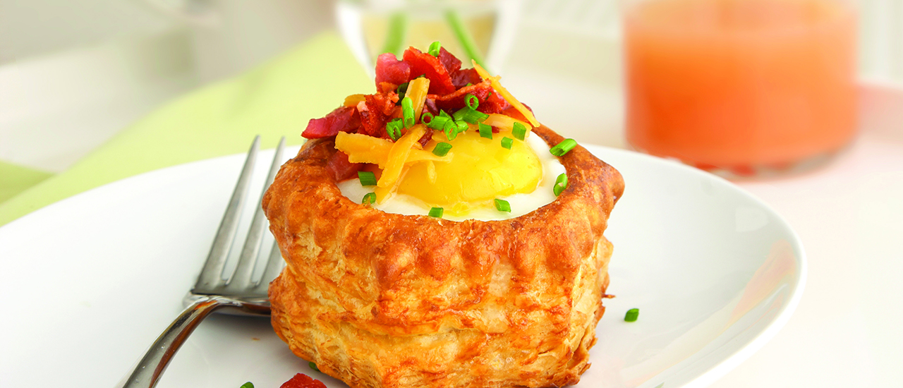 Bacon, Egg and Cheese Pastry Shells