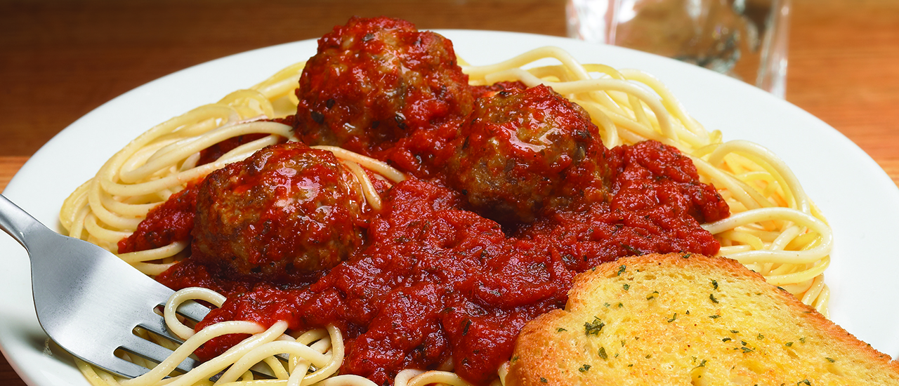 Meatballs with Spaghetti & Texas Toast