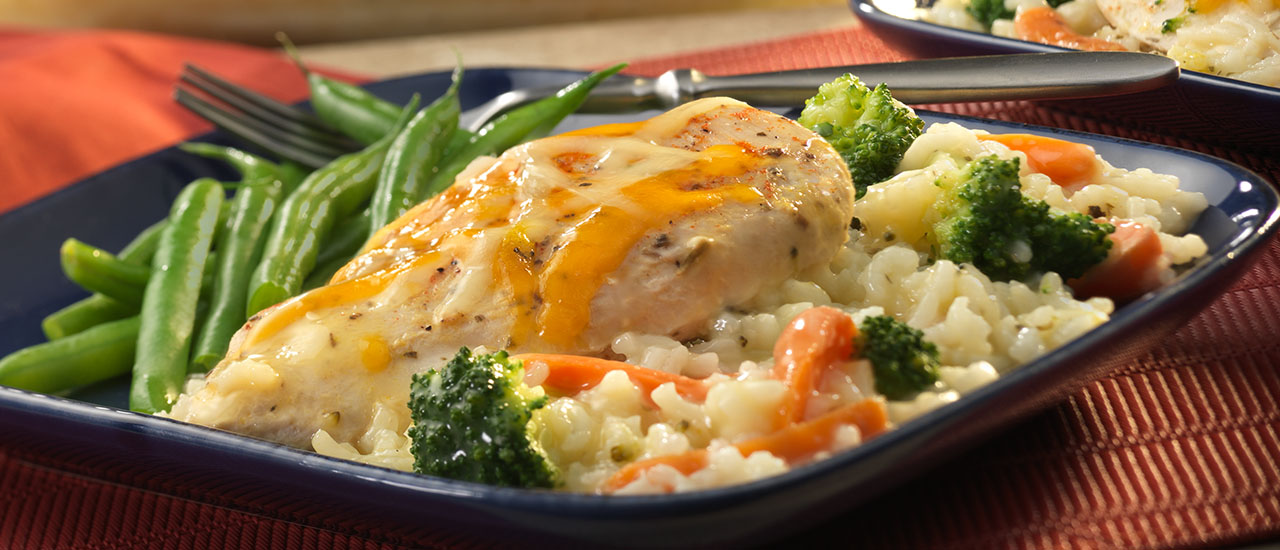 How to make campbells chicken and rice casserole