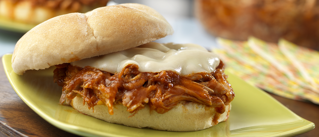 Slow CookerPulled Pork& Provolone Sandwiches