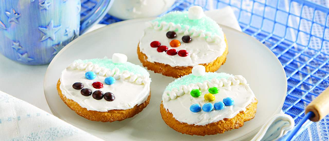 Sparkling Sugar Cookie Snowmen