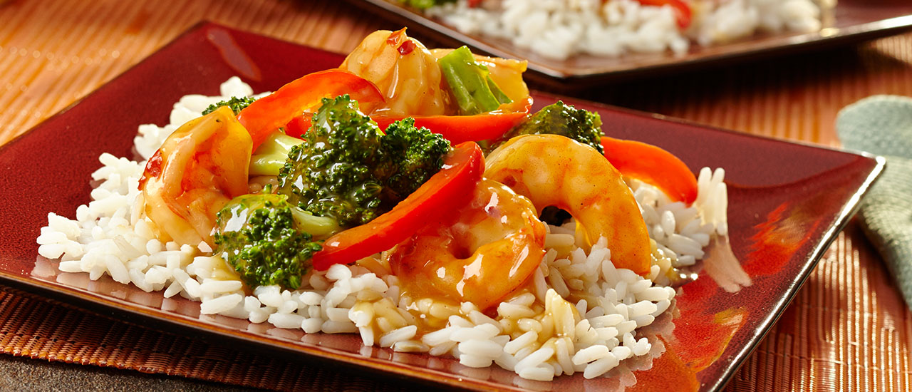 Sesame Ginger Shrimp & Broccoli