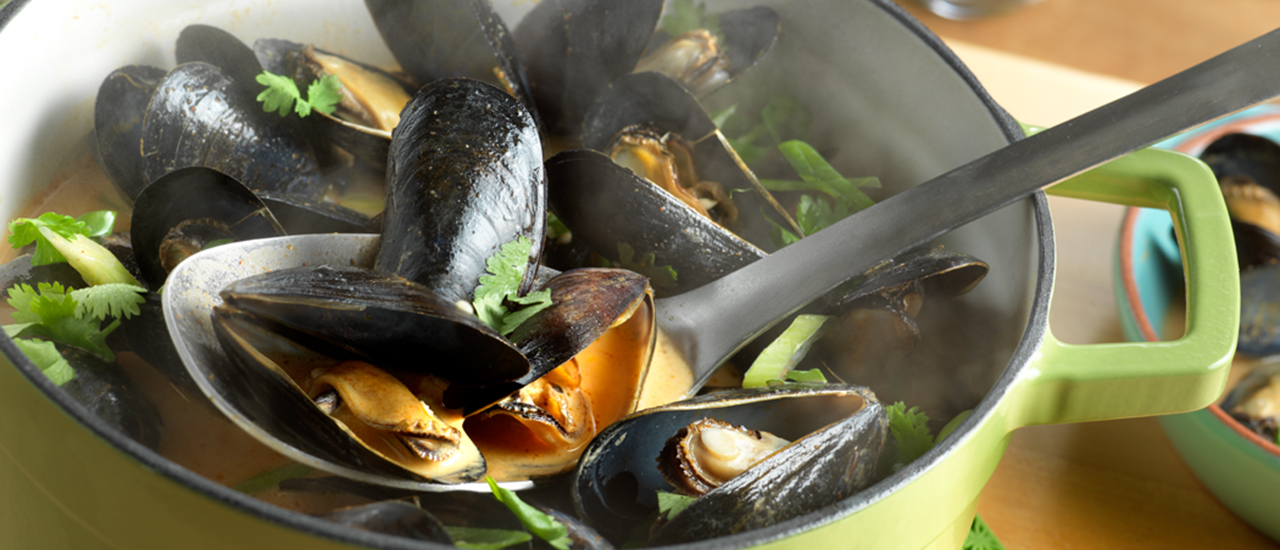 Steamed Curry Mussels