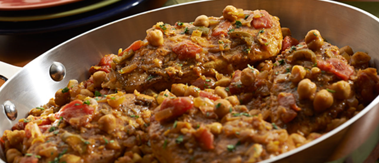 Chicken Curry with Chickpeas & Tomatoes