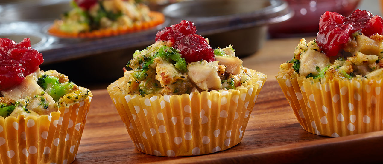 Mini Chicken & Stuffing Cups