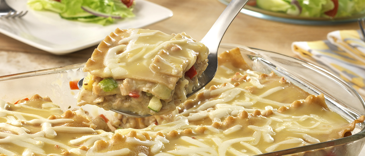 Creamy Turkey & Vegetable Lasagna