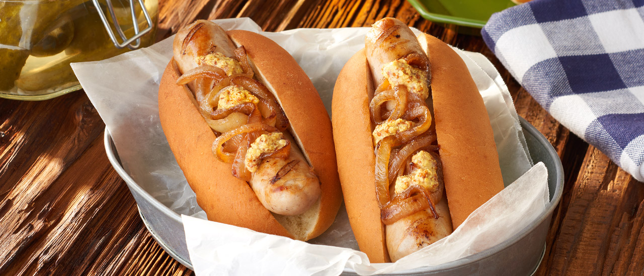 Beer-Braised Bratwurst Sandwiches