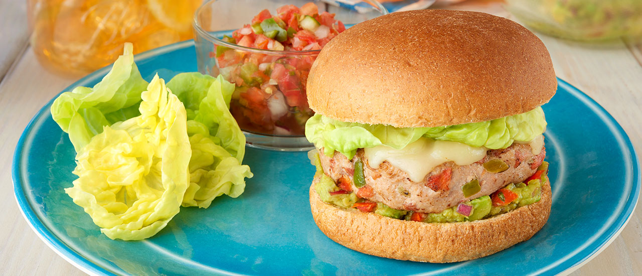 California Turkey Burgers with Guacamole