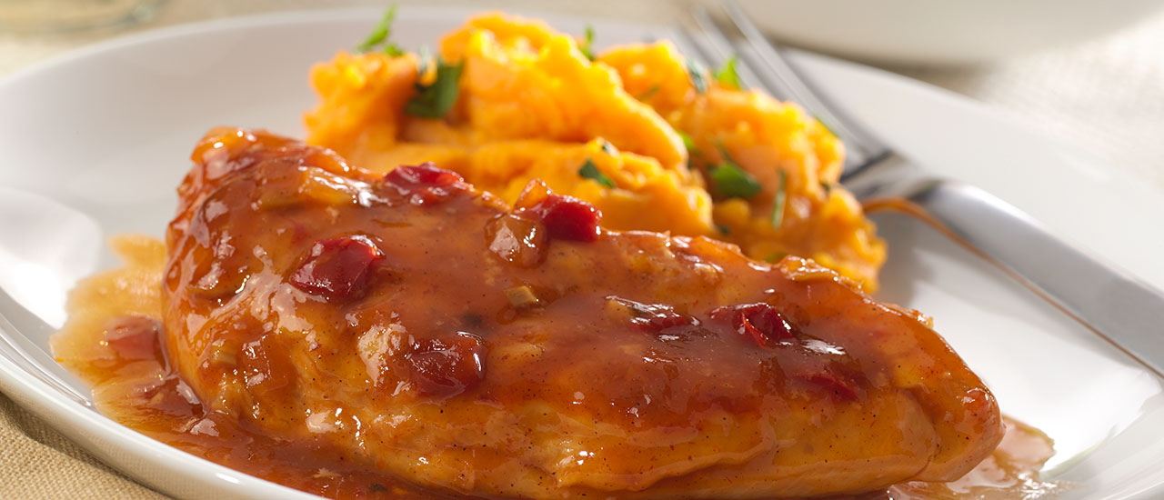 Slow Cooker Spicy Apple Bourbon Chicken