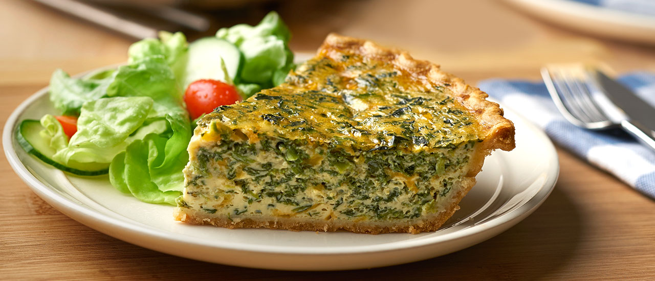 Spinach & Cheddar Quiche