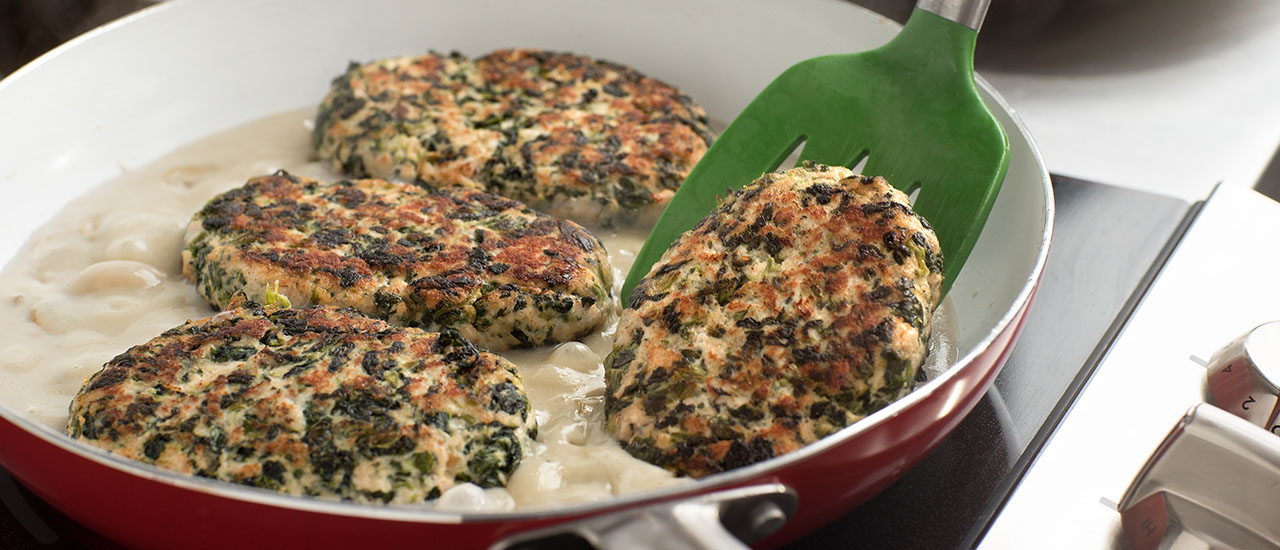 Turkey & Spinach Salisbury Steaks