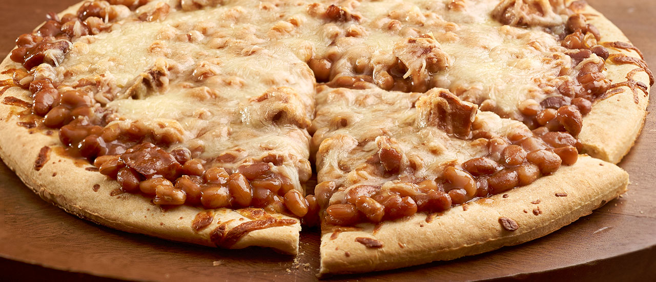 BBQ Bean & Chicken Pizza