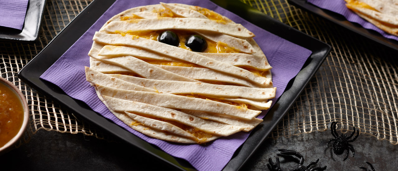 Halloween Mummy Quesadillas