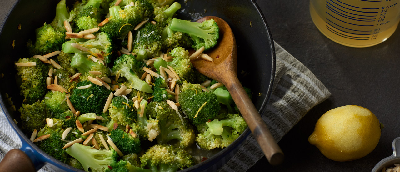 Broccoli with White Wine & Parmesan