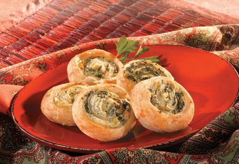 Image of Artichoke And Spinach Swirls, Campbells Kitchen