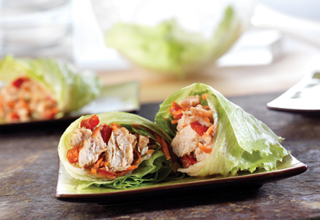 Image of Asian Chicken Lettuce Wraps, Campbells Kitchen