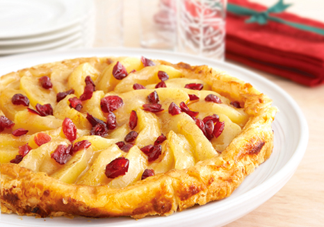 Image of Apple Cranberry Tarte Tatin, Campbells Kitchen