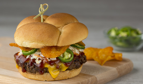 Sweet 'n' Heat BBQ Crunch Burgers