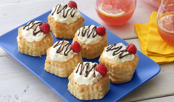 White Chocolate Mousse Pastries