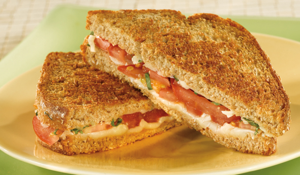 Grilled Mozzarella Tomato Sandwiches