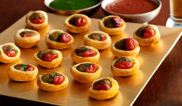 Turkey Meatball Bites with Pesto & Spicy Peppers