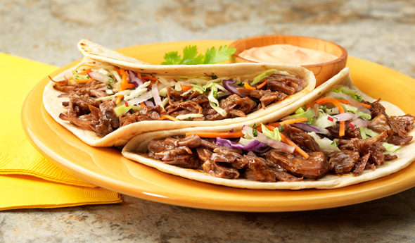 Korean Bbq Pulled Beef Tacos