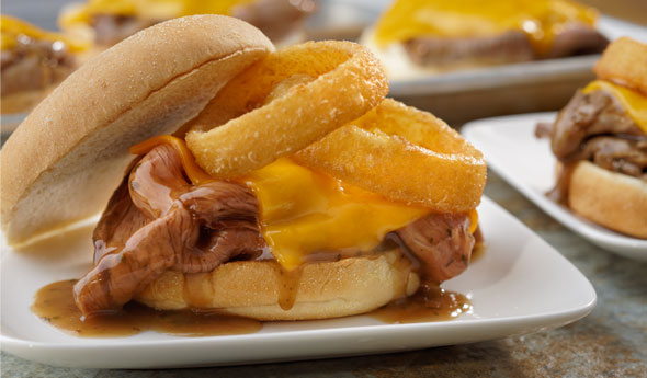 Hot Roast Beef, Cheddar & Gravy Sandwiches