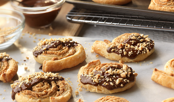 Peanut Butter Chocolate Puff Cookies
