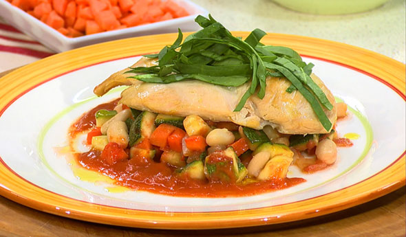 Chicken with White Bean & Vegetable Simmer