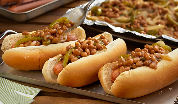Bean, Pepper & Onion Dogs