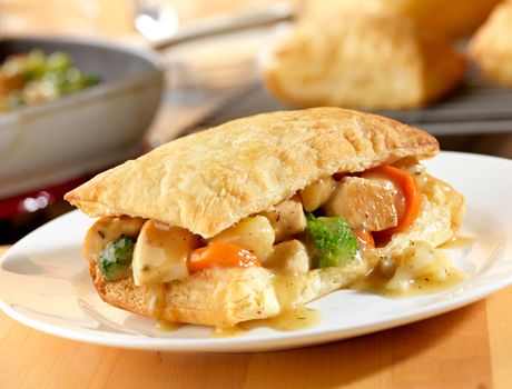 Chicken Pot Pie Squares - Puff Pastry