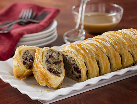 Sausage Cranberries Stuffing Pastry Puff Pastry