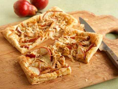 chicken asiago pear tart test this savory puff pastry tart featuring ...