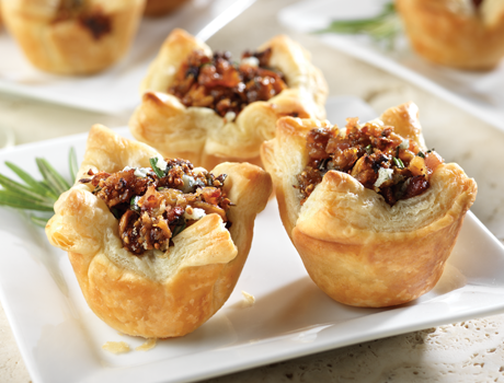 Honeyed Fig, Pancetta & Blue Cheese Tartlets - Puff Pastry
