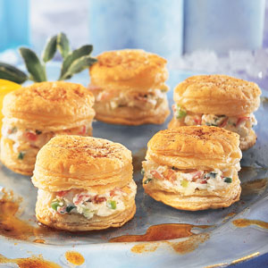Pepperidge farm puff pastry recipe detail crab for Pastry canape fillings