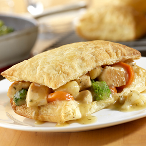 Chicken Pot Pie Squares
