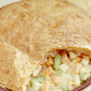 Chicken Pot Pie with Pastry Crust - Puff Pastry