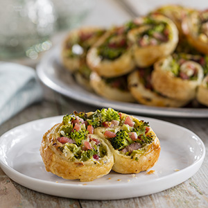 Ham & Broccoli Swirls