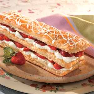 Strawberry White Chocolate Napoleons