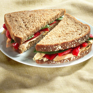 Roast Chicken Sandwiches with Basil & Peppers