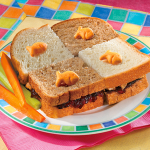 Goldfish Checkerboard Sandwich