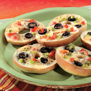 White Pizza Bagel Snacks