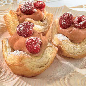 Chocolate Raspberry Mousse Tartlets